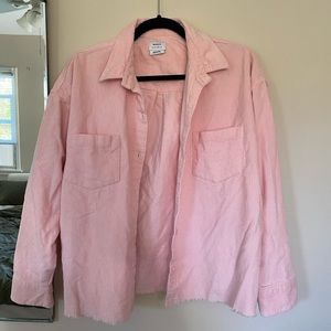 RVCA pink corduroy jacket *new with tag*